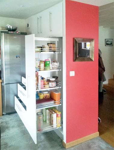 MIOT + NOBIS EBENISTERIE + ALENCON » Mur de rangement pour cuisine